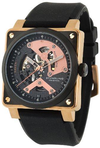 Stuhrling Original Men's 179A.334641 Sportsman Raven Diablo Automatic Skeleton Watch