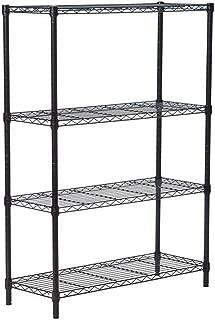 osea 4-layer Wire Shelf Metal Storage Shelves, Black