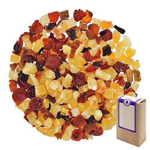 "Núm. 1374: Té de frutas ""Melón frutal"" - hojas sueltas - 250 g - GAIWAN® GERMANY - cubos de melón azucarados, rosa mosqueta, papaya y piña endulzadas, remolacha, manzana"