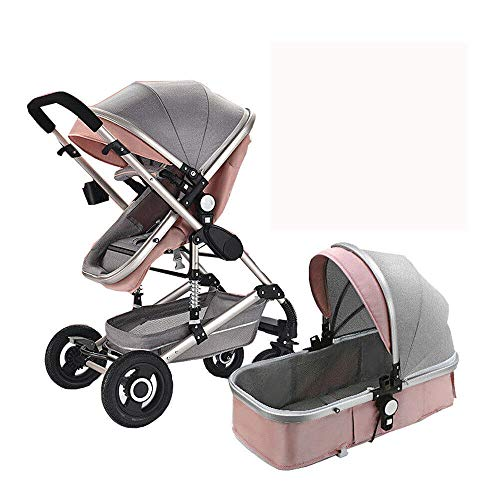 Buy Bargain LZTET Baby Stroller 2 in 1 High Landscape Buggy Portable Foldable Pushchair 0-3 Years Ol...