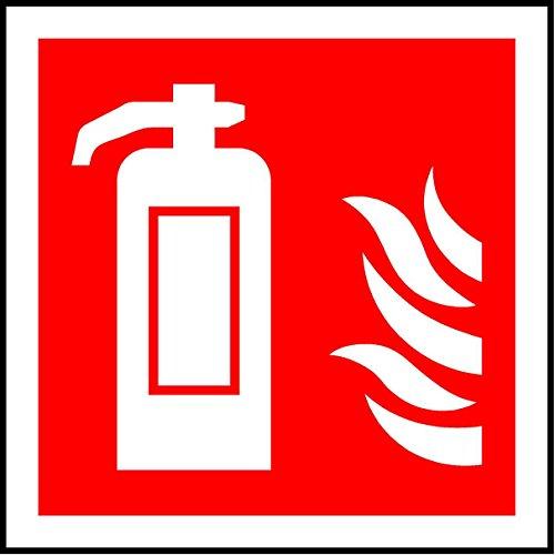 ISO Safety Sign Label International Feuerlöscher Symbol–Sticker Selbstklebend 200mm x 200mm x 200mm