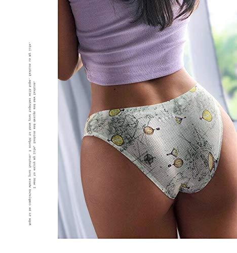 Xiaobing Temptation Hot One Piece Transpirable Impreso Seamless Sexy Tanga Bikini Bragas -4-XL