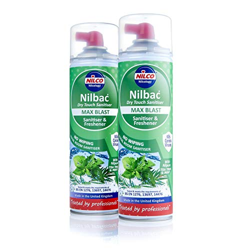 Motor World Nilco Nilbac Max Blast Dry Touch Sanitiser 500ml - Tea Tree & Mint x 2