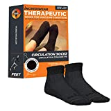 Incrediwear Circulation Socks, Ankle, Black, Medium