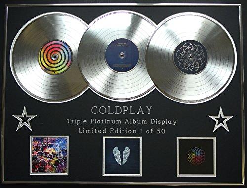 COLDPLAY/Dreifach-Platin Album anzeigen/Limitierte Edition/COA/MYLO XYLOTO + GHOST STORIES + A HEAD FULL OF DREAMS