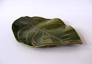 PROCERAMICO vajilla artesana hecho a mano Hoja limonero cerámica 30x20cm Plato cerámica fuente hoja
