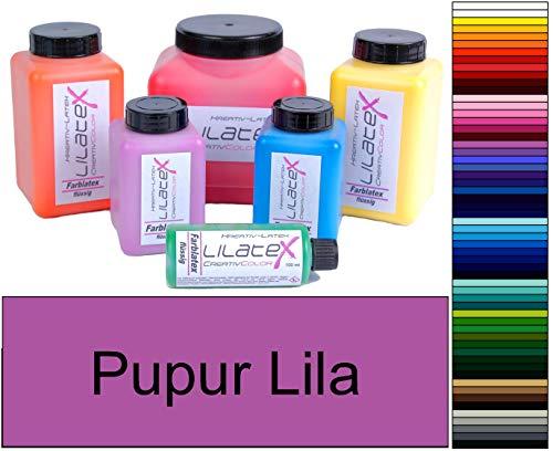 Lilatex 1 Liter farbiges dickflüssiges Flüssiglatex/Farblatex/Latexmilch - dickflüssiges Naturlatex (Purpur Lila)