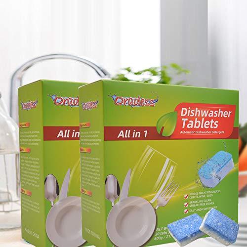 MJTP 30 Tabletas Tabletas para lavavajillas, detergente para lavavajillas, detergente para Lavabo de sobremesa