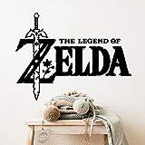 kyprx Fashion The Legend of Zelda Kunstaufkleber wasserdichte Wandaufkleber Schlafzimmer Wandaufkleber Raumdekoration Aufkleber muraux weiß M 30cm X 39cm