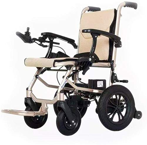 Power Wheelchair Aluminum Electric Wheelchair Lightweight Foldable Dual control Transport Chair adjustable arm rests elderly and Handicapped dedicated Transit Travel Chair Comfortable and Safe Travel