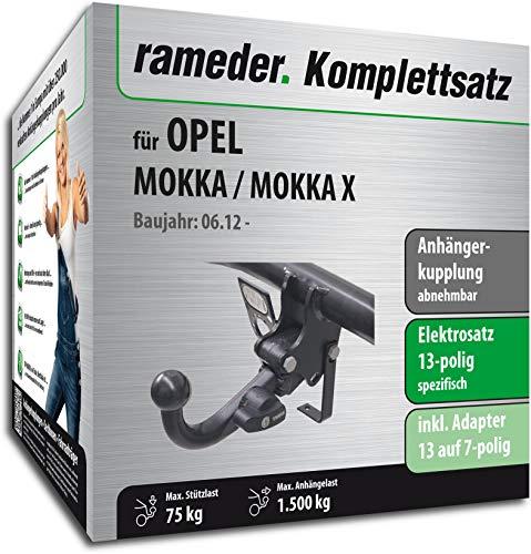 Rameder Komplettsatz, Anhängerkupplung abnehmbar + 13pol Elektrik für OPEL Mokka/Mokka X (148163-10264-1)