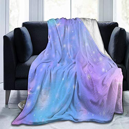 GugeABC Manta de Microfibra Ultra Suave,Espectro Rainbow Girlie Malla Multicolor Universo Kawaii Efecto púrpura Abstracto Moderno,Decoración para el hogar,cálida Manta para sofá Cama,60'X50'
