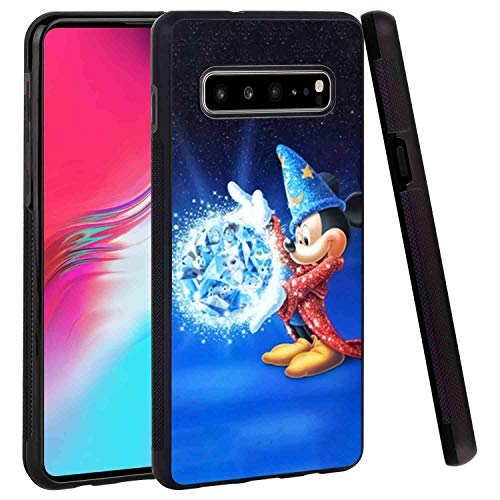 {Brand_Name} Tire Phone Case Compatible with Samsung Galaxy S10 5G Mickey Mouse The Sorcerer's Apprentice Skidproof Shock Absorption Protective Phone Cover