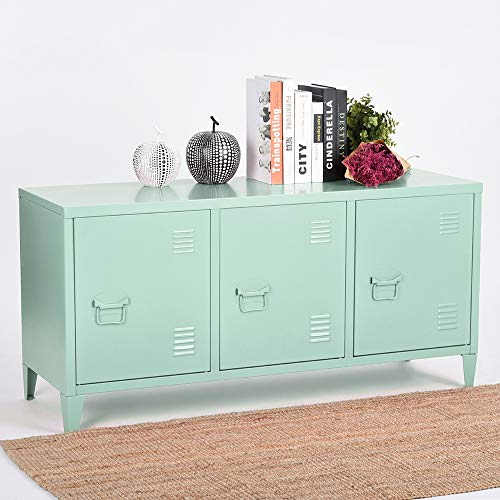 HouseinBox Metal Storage Cabinet Kids Organizer 2 Tier 6 Shelves Stacking Stand with Handle