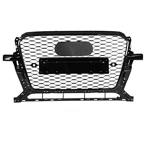 KIMISS Front Sport Hex Mesh Honeycomb Hood Grill Estilo RSQ5 negro para Q5 / SQ5 8R 13-17
