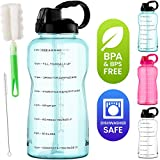 EnergyBud 1 Gallon Water Bottle With Straw And Handle,...