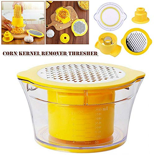 Corn Thresher,Corn Kernel Remover Corn Cob Stripper Cutter Peeler Thresher Grinder For Kitchen