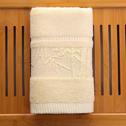 Aututer 3 ou 2 Paquets de Serviettes en Jacquard de forêt de Bambou en Fibre de Bambou Ordinaire