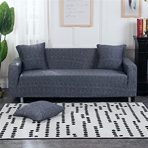 WXQY Funda de sofá elástica para Sala de Estar Todo Incluido Funda de sofá Antideslizante elástica combinación de Funda de sofá de Esquina en Forma de L A17 2 plazas