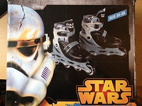 Disney Star Wars Inline Skates Darth Vader Größe 35-38 (Größe verstellbar)