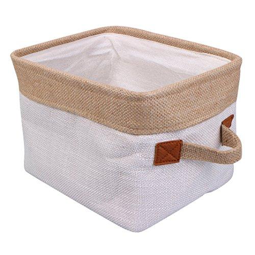Rosa Schleife Faltbar Aufbewahrungsbox, Wäschekorb Lagerung Körbe umweltfreundlichen Baumwolle Aufbewahrungskorb mit Griff Schrank Organizer für Kleidung Handtücher Bettwäsche Spielzeug