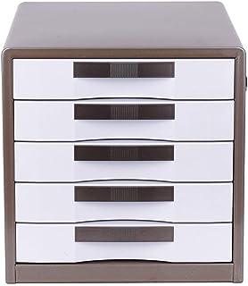 Yhtech Home Office Armoires à cinq couches Verrouillé métal de bureau Classeur de stockage des données Cabinet lisse Sens ...