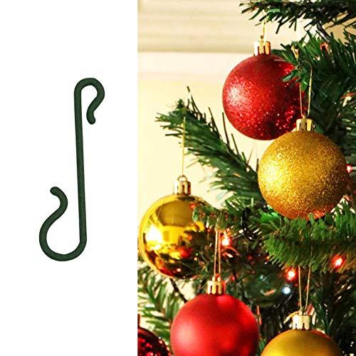 Yuccer Crochet Boule Noel, 150PCS Crochets Arbre Noel Crochets pour Boules de Noël Décorations (Vert, 150PCS)