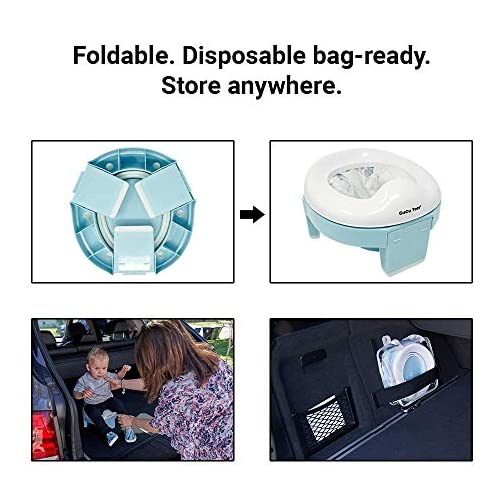 Portable Potty and Training Seat with Free Travel Bag for Toddlers (Sky Blue) by GuGu Tots 5
