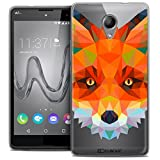 Case for Wiko Robby Ultra-Thin Polygon Animals Fox