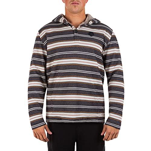 Hurley Herren M Modern Surf Poncho Sherpa LS H T-Shirt, Öl-Grau, M
