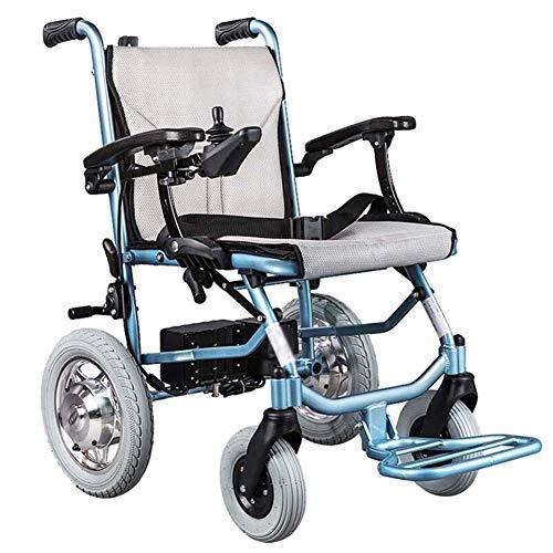 APOAD Elektrischer Rollstuhl, Intelligente Automatische Faltbar Elektrorollstuhl,18kg Aluminiumlegierung Faltbar Tragbare,sitzbreite 45cm,abnehmbare Lithiumbatterie,für ältere Und Behinderte Menschen