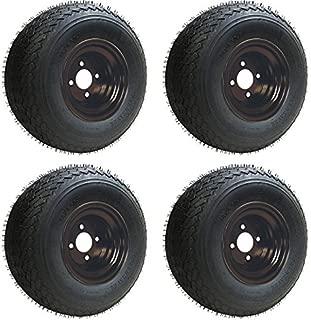 Slasher Golf 18x8.50-8 GTX OEM Golf Cart BLACK Wheels and Golf Cart Tires Combo - Set of 4