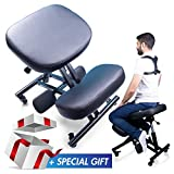 MediChair Kneeling Chair – Cross Legged Posture Chair – Comfortable and Ergonomic Office Chair – Side, Back and...