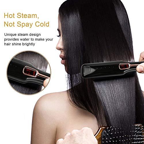 Stijltang voor rechte, multifunctionele haar, haarkam voor rechte haarspray, stoomreiniger, infrarood ionen, geschikt voor alle haartypes.