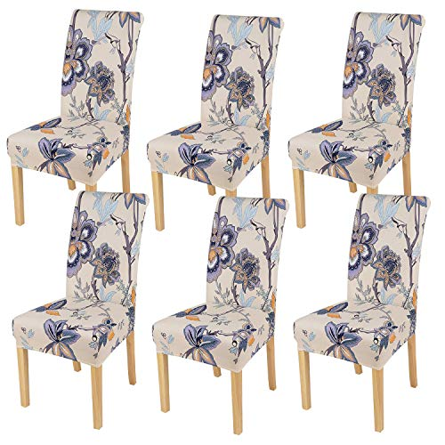 smiry Printed Dining Chair Slipcovers for Home, Kitchen, Party, Restaurant