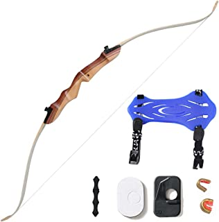 Huntingdoor 48'' Archery Beginner Bow 16Lbs 20 Lbs Take Down Recurve Children Youth Bow White - Right Hand