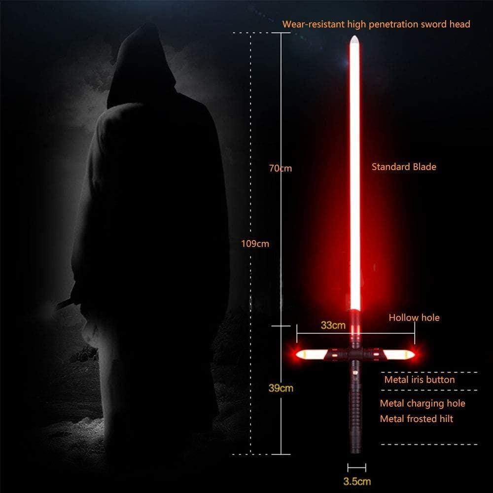 zzj Lightsaber zwart gloeiend zwaard speelgoed volwassen strijd geschenk-Cross lichtzwaard rood licht Kruis Lichtzwaard Rood Licht