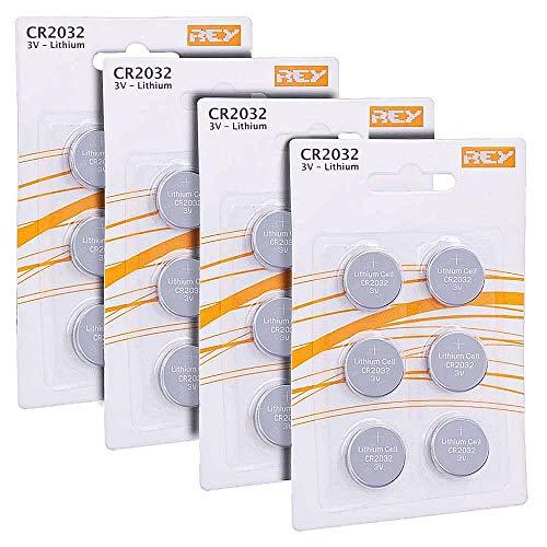 Pack 24 Batterias CR2032 3V, Batteria a Bottone al Litio