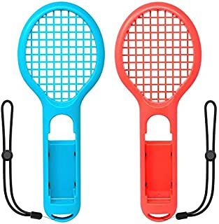 Tennis Racket for Nintendo Switch Joy-con, Grips for Switch Joy-con, Fit Somatosensory Games like Mario Tennis Aces