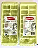 Rubbermaid Easy Release Ice Cube Tray - Pack of 2, Lime Green