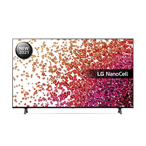 LG 50NANO756PA 50 inch 4K UHD HDR Smart NanoCell TV (2021 Model) with Fast Quad Core Processor 4K, AI Sound, Freeview Play, Prime Video, Netflix, Disney+