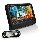 Pyle PLD93BK Headrest Vehicle 9-Inch Video Display Monitor CD/DVD Player USB/SD Readers HDMI Port