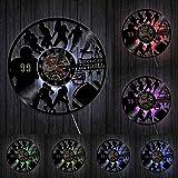 HHYXIN Horloge Murale Disque vinyleÉquipe de Football Disque Vinyle Veilleuse Horloge Rugby Sportifs Mur Art Décoratif Jeu Sport Joueur Garçons Cadeau-12 Pouces
