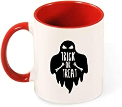 Beautiful Color Mug Inside And Handle Ghosts Halloween tea cup coffee cup red-style1