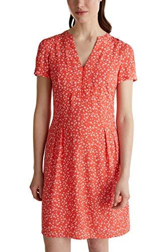 ESPRIT Damen 040EE1E352 Kleid, 648/CORAL 4, 42