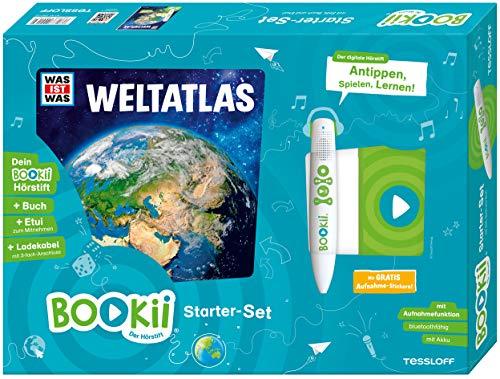 BOOKii Starter-Set WAS IST WAS Weltatlas Hörstift mit Aufnahmefunktion Buch Weltatlas