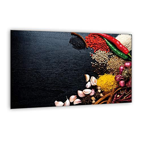 furnigo | Placa universal 80 x 52 cm | Tabla de cortar | Cubierta de placa | splashback | Protector de encimera | Cubierta del fregadero | 31378