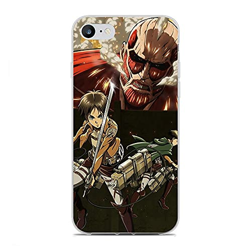 Yomanic Clear Coque Slim Soft Matte Durable Rubber Silicone TPU Fundas Fit Cover Case For Apple iPhone 6 Plus/6s Plus-Japan Attack on-Titan 7