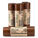 RELEVO 100% Reciclado Bolsas de Basura, marrón