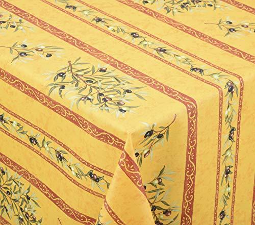 Venilia Oliv Clos des oliviers Linge de Table Nappe Anti Tache, Imperméable, Coton, Rondes, 160 x 160 cm, 55143